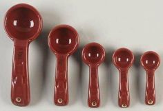 Longaberger Woven Traditions-Paprika 5 Pc Ceramic Measuring Spoons, Fine China Dinnerware by Longaberger. $29.99. Longaberger - Longaberger Woven Traditions-Paprika 5 Pc Ceramic Measuring Spoons - Burgundy,Embossed Basketweave Border