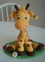 Resultado de imagem para girafa baby em biscuit