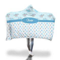 Blue Stegosaurus Hooded Blanket – Designing on Wine Hooded Blanket, Bassinet, Little Ones, Blankets, Hoods, Cozy, Wine, Prints, Design