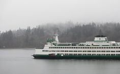 The ferry on a foggy afternoon