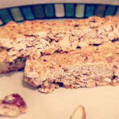 Homemade Granola Bars: 4 c oats, 1 cup trail mix (I used one with dried fruit, dark chocolate covered soy nuts, almonds), 1 cup melted peanut butter, 1/2 c apple sauce, 1 mashed banana, and 1/2 c honey. Spray a cookie sheet with non stick spray, dump the dough in the pan and spread evenly. Bake for 25 min in a 350 oven. Soo yummy! **vegan!