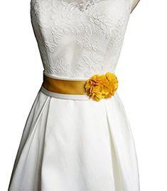Simple Flowers Belts/sashes for Wedding/party/bridal Dress - Gold Satin Dresses, Bridal Dresses, Wedding Sash Belt, Flower Belt, Masquerade Costumes, Daily Dress, Dress Gloves, Simple Flowers, Stretch Satin
