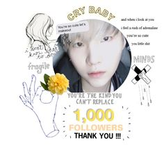 """1,000 FOLLOWERS ~ THANK YOU !!!!"" by blue-neighbourhxxd ❤ liked on Polyvore featuring art"