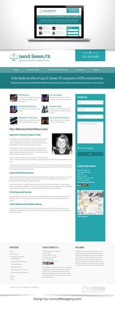 Screen capture of Laura Siemers, Viera lawyer website Lawyer Website, Websites For Students, Florida Law, Criminal Defense, Design Agency, Website Template, Melbourne, Website Ideas, Graphic Design