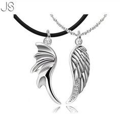 2015 New Arrival Angel 30% Silver Gold Plated Wings Couple Necklace Pendant Jewelry