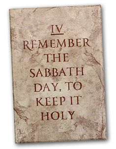 """Remember Sabbath """"the Lord's day"""""""