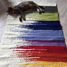 This item is unavailable Woven wool rug/loom woven rag rugs/shaggy rug/recycled rugs/Handmade woven Rug/Colorful Scraps/Hand Woven Chindi/Rag Rug/Multicolor Rug Loom, Loom Weaving, Tapestry Weaving, Hand Weaving, Recycled Rugs, Weaving Projects, Weaving Patterns, Stitch Patterns, Knitting Patterns