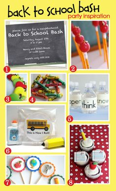 What a cute party idea to kick off the school year!
