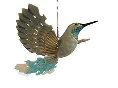 Handmade Bird Mobile Wood Carving Hummingbird Art by MyFanbirds #etsyspecialt #integritytt