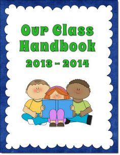 Corkboard Connections: Class Handbook Freebie to Customize! Newly updated for the 2013 - 2014 school year.