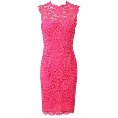 VALENTINO Macramé Lace Pencil Dress ($2,880) ❤ liked on Polyvore