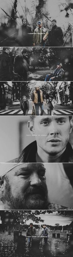 """So you must be the guy pretending to be their father."" ""Somebody ought to."" #spn"