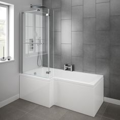 L Shape Shower Bath, L Shape Panel & Pivoting Screen... starting from £450.00 including vat Call us today for your free obligation quote on 01224 823377