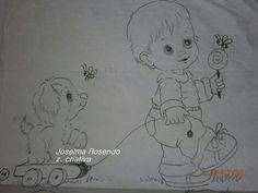 riscos de bebes marinheiro para pintura em tecido | Menino | Riscos para pintura em tecido | Pinterest