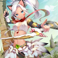 Anime girl neko cat ears