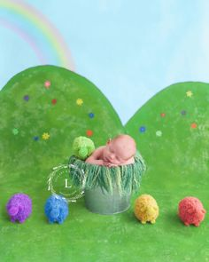 """Where is the Green Sheep?"" - Rainbow Baby Photoshoot 🌈"