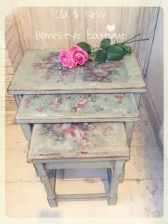 Flower Power makeover using prints, water & chalk paint