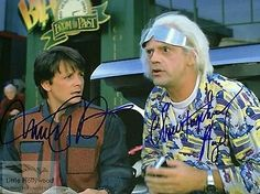 autographed photo of Micaheal J Fox in Back To the Future Reprint The Future Movie, Back To The Future, Doc Brown, J Fox, Bttf, Movie Props, Music Photo, Michael Jackson, Hollywood