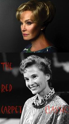 Top photo-Jessica Lange, American actress of Stage and Screen Bottom photo-Lenka Peterson, American actress of Stage and Screen-Quite a strong resemblance!