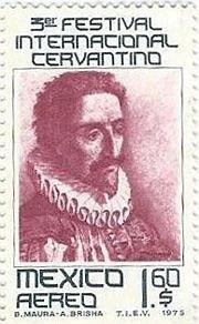 stamp with miguel de cervantes saavedra - Google Search
