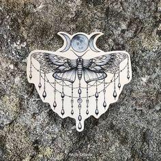 Moth Tattoo - Moon Tattoo - Moth Temporary Tattoo - Goddess Tattoo - Beautiful Moth Accessory For Any Occassion - Tattoo DIY Tattoo Mond, 16 Tattoo, Sternum Tattoo, Mandala Tattoo, Cute Tattoos, Beautiful Tattoos, Body Art Tattoos, Moon Tattoos, Tatoos