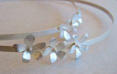 https://flic.kr/p/o1dhrz | Custom-made wedding crowns with silver jasmines