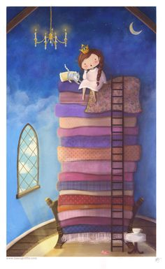 princess and the pea illustration by lisa m. griffin #illustration #princess…