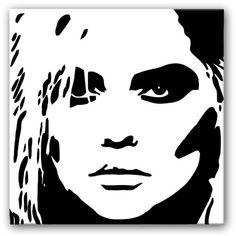 Blondie Pop Art Canvas Print Black And White Canvas b12f49e93a