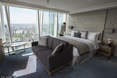There is no need to request a room with a view if you're planning to book a night at #London's latest luxury hotel - Shangri-La Hotel, at #TheShard.