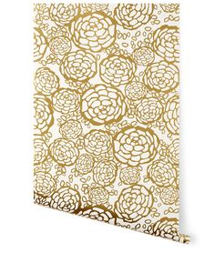 Petal Pusher (Gold) from Hygge Dream wallpaper #HyggeAndWestPinToWin