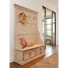 Entryway Coat Rack and Storage Bench