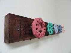 Door handles or old water valve hand wheels