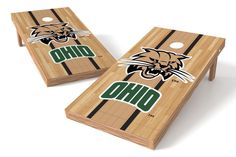Ohio University Bobcats Cornhole Board Set - Court (w/Bluetooth Speakers)