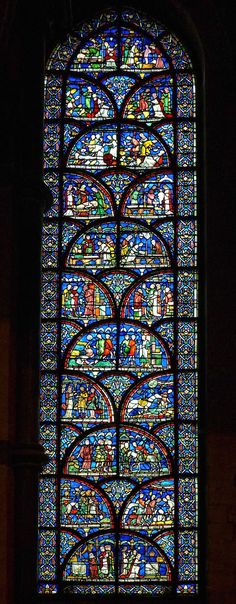 Stained glass window at Canterbury Cathedral, Kent, England. #StainedGlassCathedral