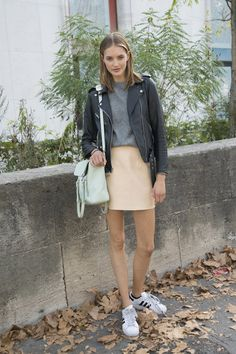 Le-Fashion-Blog-25-Ways-To-Wear-Adidas-Sneakers-Leather-Moto-Jacket-Grey-Tee-Neutral-Mini-Skirt-Super-Star-Street-Style-Via-Pop-Sugar