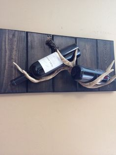 Antler Wine / Liquor Rack by AspenBottleHolders on Etsy