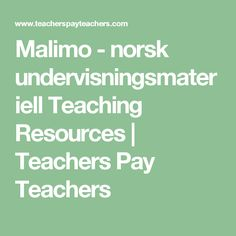 Malimo - norsk undervisningsmateriell Teaching Resources | Teachers Pay Teachers