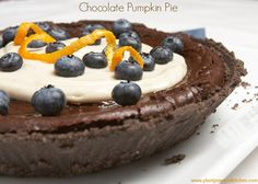 Chocolate Pumpkin Pie & Festive Chickpea Tart with Cranberry Sauce