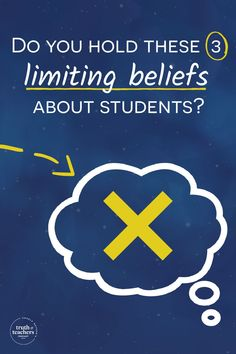 Limiting beliefs aren't necessarily conscious beliefs. These are worldviews that have been ingrained in us over the years and we're not always aware of them. We can tell if these beliefs are there by examining the things that we say and do. Classroom Routines, Classroom Procedures, New Teachers, Elementary Teacher, Teaching Jobs, Teaching Ideas, First Week Activities, Feeling Frustrated, Bad Kids
