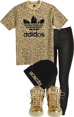 """All Gold everything!!!!!"" by trillvill3x ❤ liked on Polyvore omg I love this waaayyy to much!!!¡¡¡"