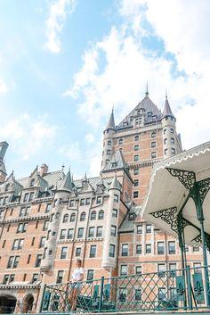 chateau_fontenac_quebec_blog_voyage Chute Montmorency, Le Petit Champlain, Saint Laurent, Barcelona Cathedral, Building, Blog, Travel, The Neighborhood, Viajes