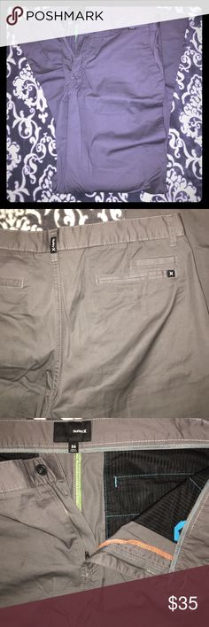 NWOT Grey Hurley Men's Khaki/Chino Style Pant 36 NWOT Grey Hurley Men's Khaki/Chino Style Pant. Size 36. Never worn. No sign of wear and tear. These are Relaxed, but Straight Leg light weight pants. Can be dressed up or down. Everything in our closet must go. We accept 95% of first time offers with no back and worth haggling. Thanks for shopping 😁 Hurley Pants Chinos & Khakis