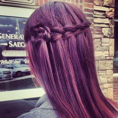 waterfall braid with braided flower