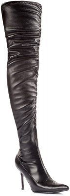 Lala Ruched Thigh High Boots