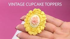 How to make easy Chic Vintage Cupcake Toppers