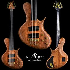 An R8-Singlecut with Redwood Body and Worn black neck Finish
