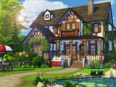 Building Games 618822805027630518 - Tudor Alley is a charming family house in Tudor style built on lot in Newcrest. Found in TSR Category 'Sims 4 Residential Lots' Source by florinehounsalapostenet Sims 4 House Plans, Sims 4 House Building, Building Games, Lotes The Sims 4, Sims Cc, Sims 4 House Design, Casas The Sims 4, Budget Planer, Sims 4 Build