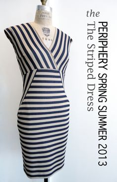 Periphery striped dress