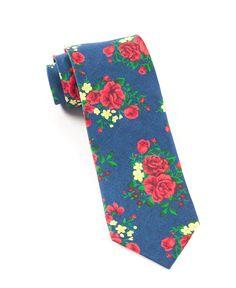 0b351f1b48756 The Tie Bar  Hinterland Floral Ties Navy 2 In. Regular Length - 58 In.