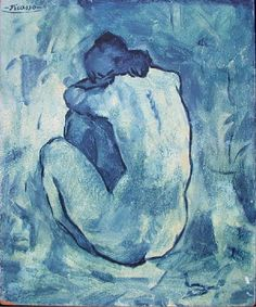 """Pablo Picasso - """"naked woman"""", 1902"""